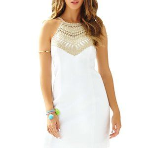 Lilly Pulitzer Pearl Shift dress resort white